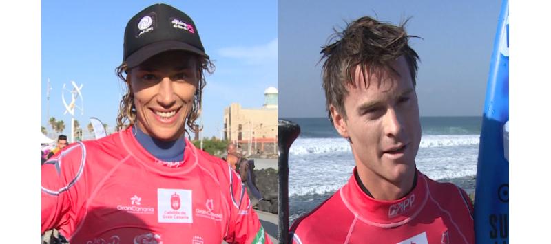 Iballa Ruano y Sean Poynter se proclaman Campeones  del Mundo de Paddle Surf, en la modalidad de olas
